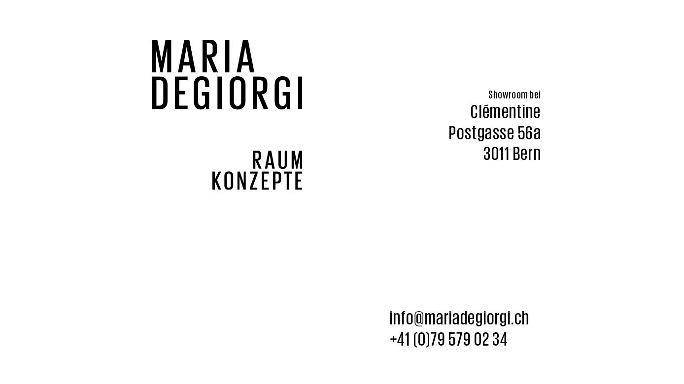 Maria Degiorgi - Raumkonzepte