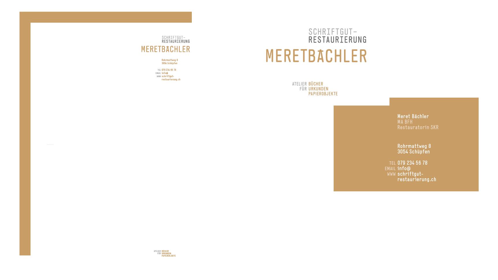 Schriftgut-Restaurierung Meret Bächler